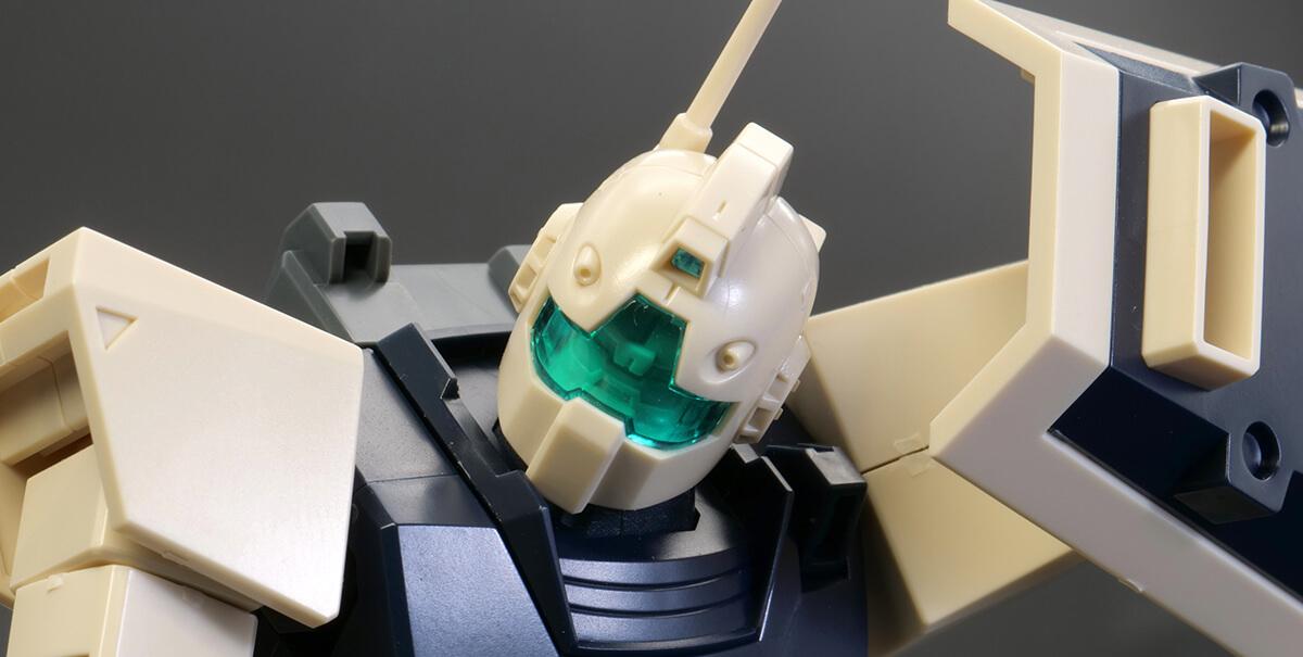 HGUCジムIIデザートカラーVer.のガンプラレビュー画像です