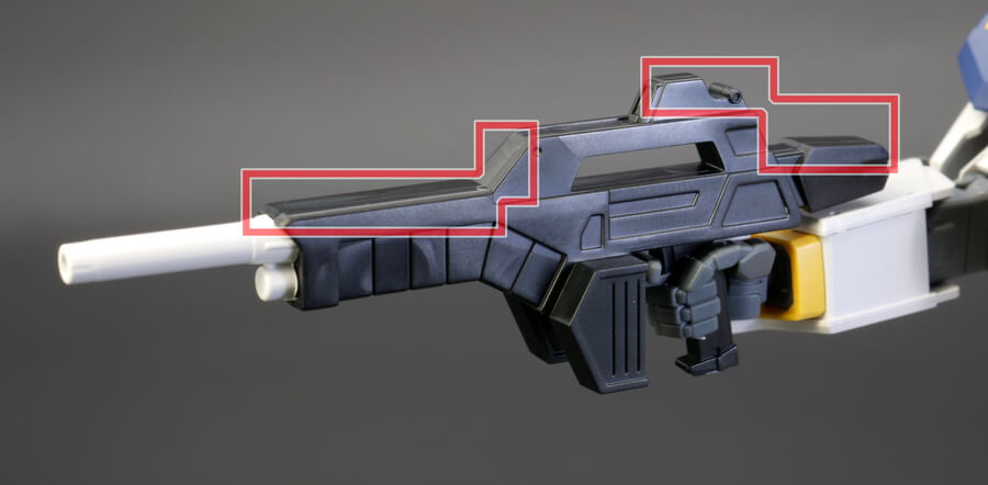HGガンダム6号機(マドロック)のガンプラレビュー画像です