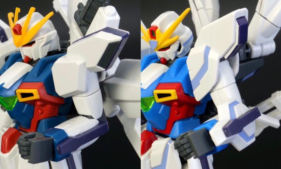 HGAWガンダムXとHGBFガンダムX魔王の違い・比較ガンプラレビュー画像です