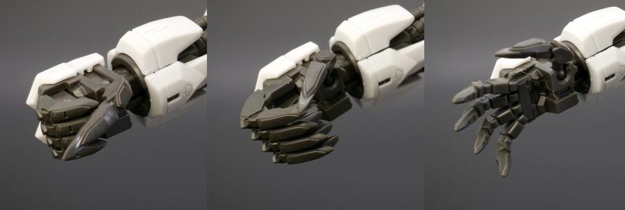 MGガンダムバルバトスのガンプラレビュー画像です