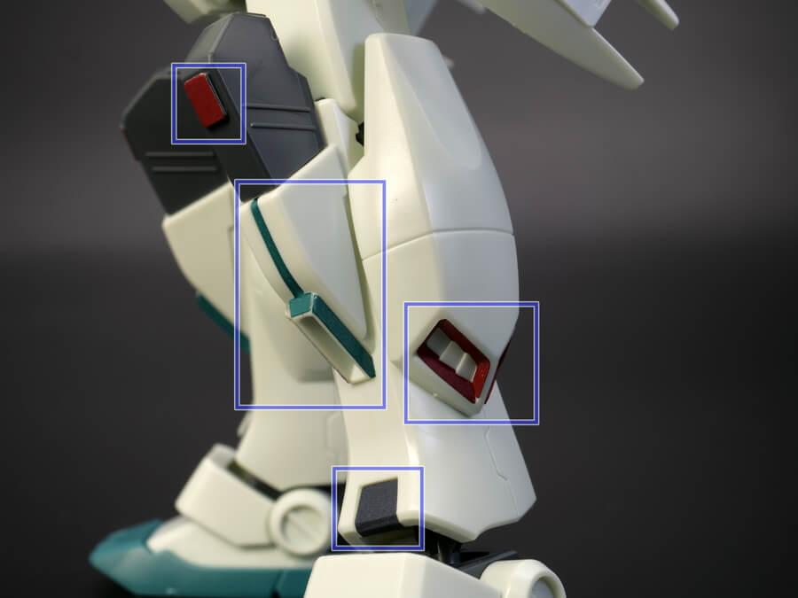 HGUCジム3のガンプラレビュー画像です