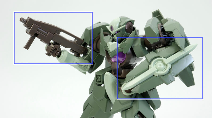 HG ジンクス4(量産機)のガンプラレビュー画像です
