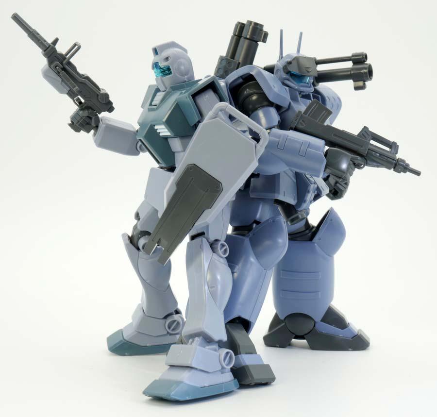 HGジム&ガンキャノン量産型(ホワイト・ディンゴ隊仕様)のガンプラレビュー画像です