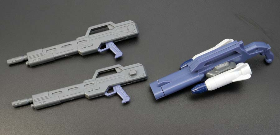 1/100ガンダムエアマスターバーストの付属武器の画像です