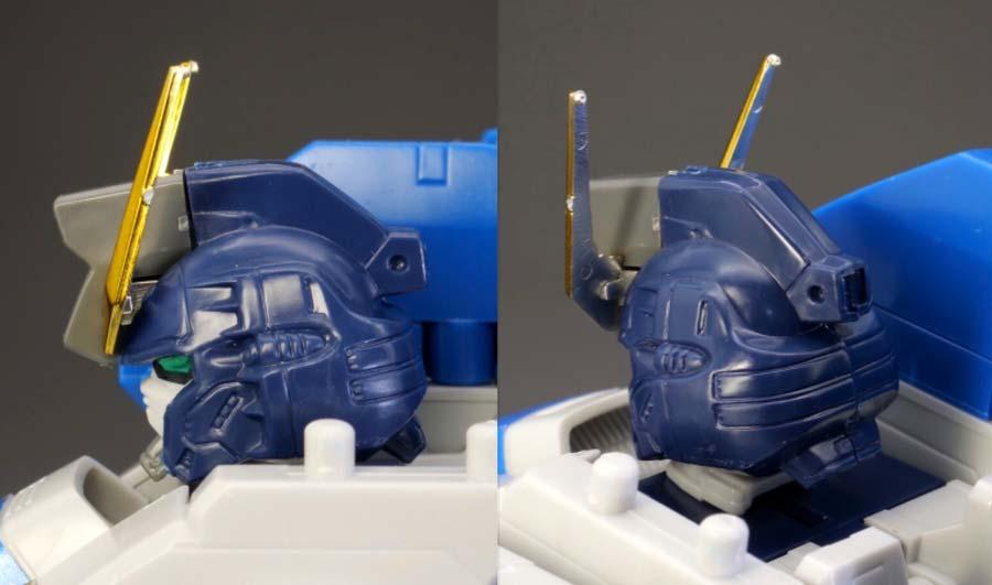 1/100ガンダムエアマスターバーストの頭部の画像です