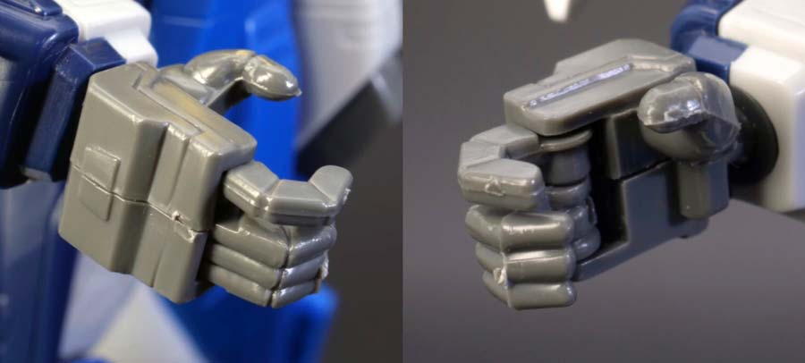 1/100ガンダムエアマスターバーストの手首パーツの画像です