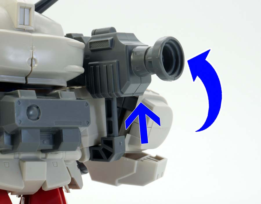 BB戦士ガンダムGP02サイサリスのガンプラレビュー画像です