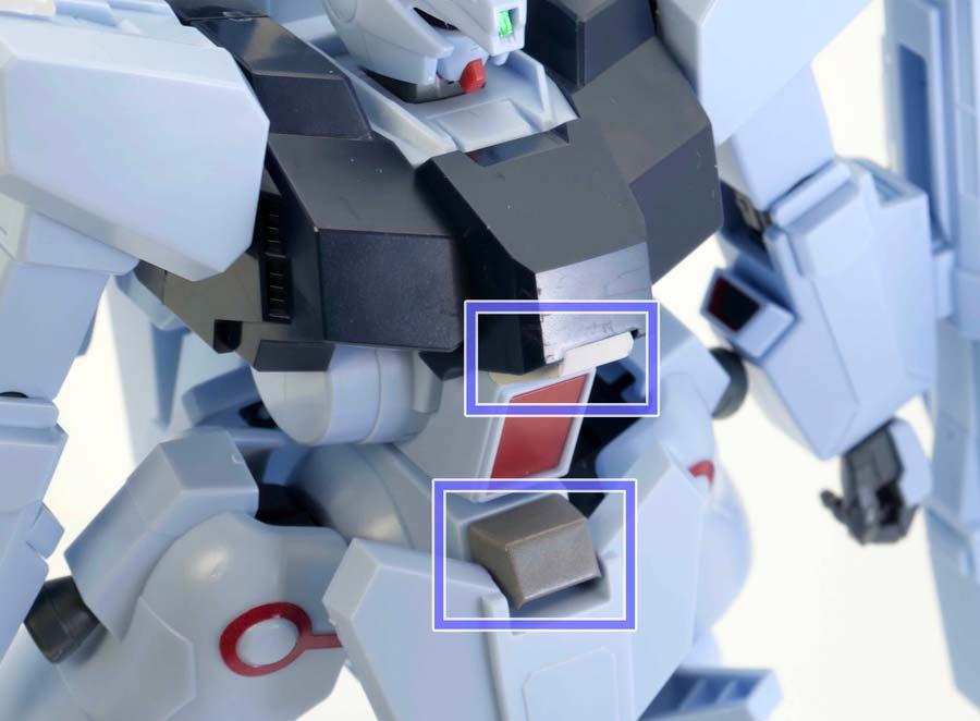 HGシルヴァ・バレト(ファンネル試験型)の胴体に使うシールのガンプラレビュー画像です