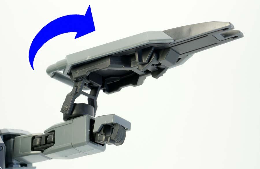 HGスレイヴ・レイス(パラシュート・パック仕様)のガンプラレビュー画像です