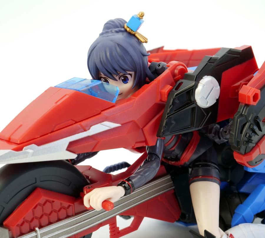HG蒼流丸(そうりゅうまる)とTAMASHII GIRL AOIの合体画像です