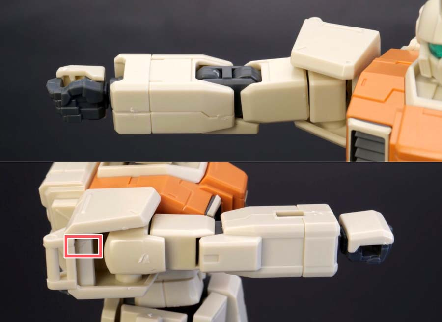HGUC陸戦型ジムの腕部の画像です
