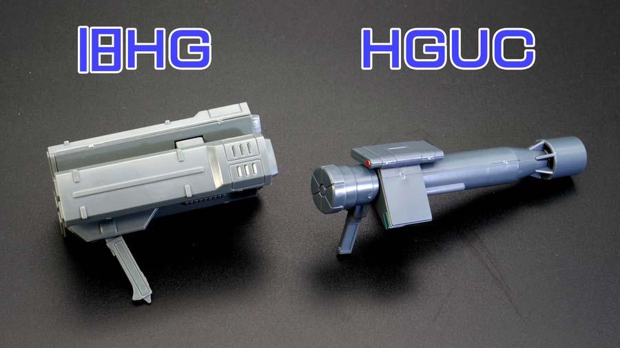旧HG陸戦型ジムとHGUC陸戦型ジムの違い・比較ガンプラ画像です