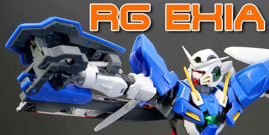 RGガンダムエクシアのガンプラレビュー画像です