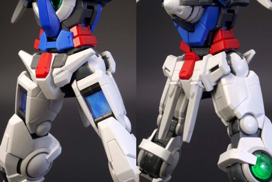 RGガンダムエクシアの腰のガンプラレビュー画像です