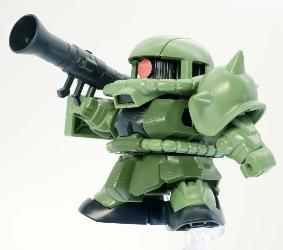 GGENERATION-G BB戦士ザクII F型のガンプラレビュー画像です