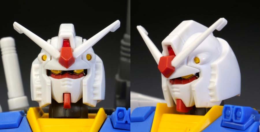 HG 1/144 RX-78-02 ガンダム(GUNDAM THE ORIGIN版)の前期型の頭部の画像です