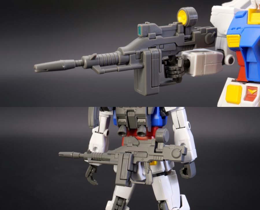 HG 1/144 RX-78-02 ガンダム(GUNDAM THE ORIGIN版)の前期型のビーム・ライフル(前記型)の画像です