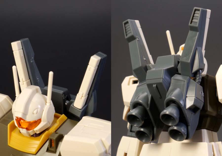 HGジムIII(ユニコーンデザートカラーVer.)のガンプラレビュー画像です