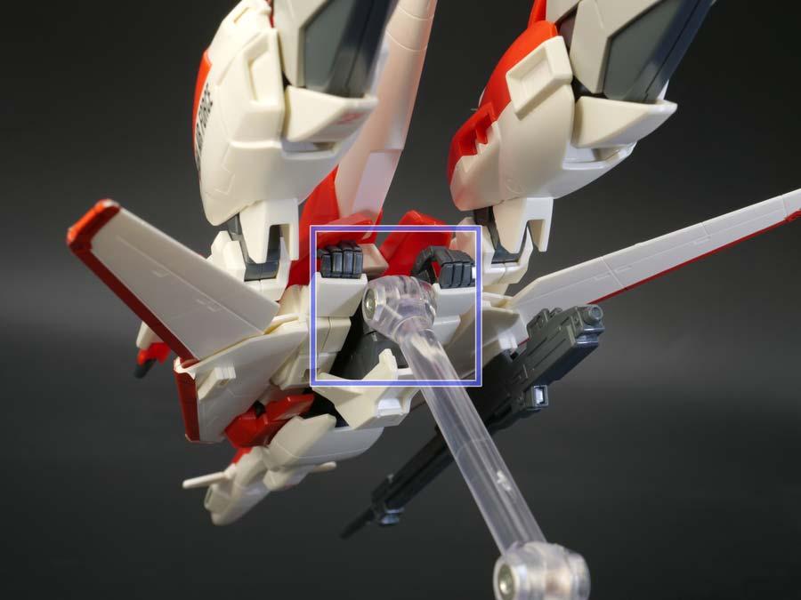 HGゼータプラス(テスト機イメージカラー)のガンプラレビュー画像です