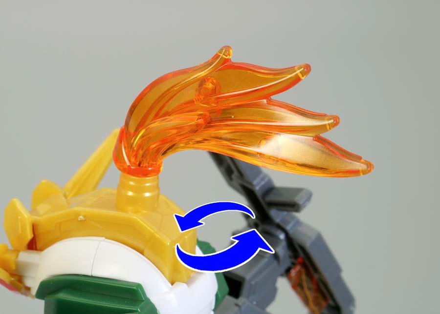 三国創傑伝の黄忠(コウチュウ)ガンダムデュナメスのガンプラレビュー画像です
