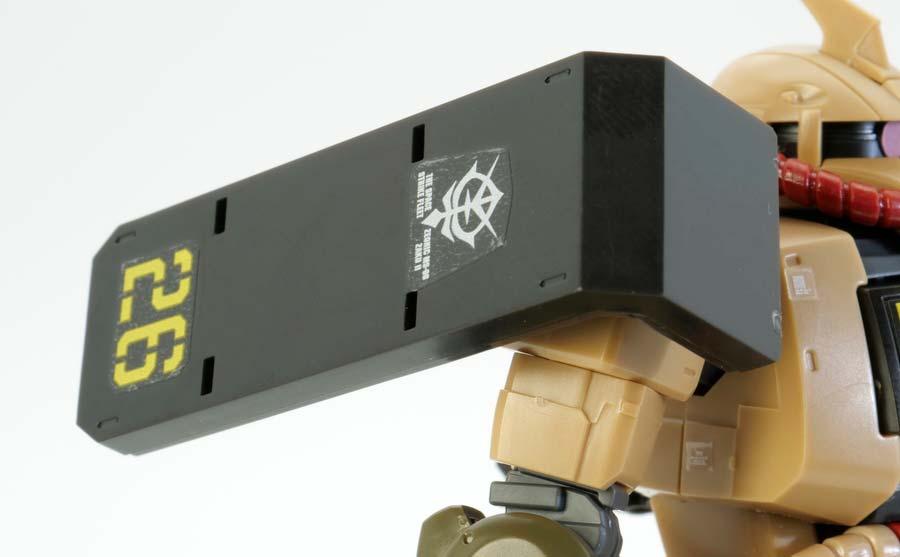 HGザク・デザートタイプのガンプラレビュー画像です