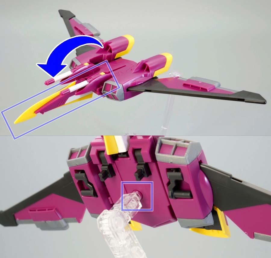 HGCEインフィニットジャスティスガンダムのファトゥム-01のガンプラレビュー画像です