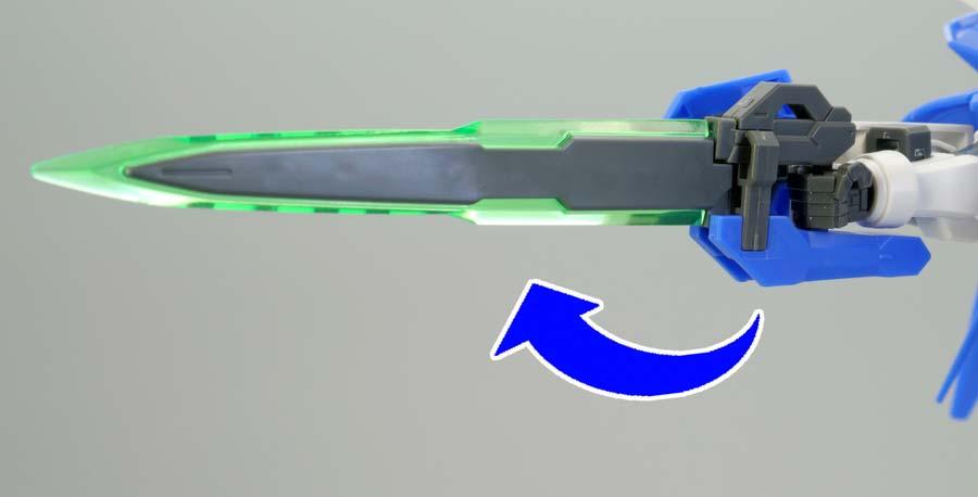 HGガンダムアメイジングエクシアのガンプラレビュー画像です