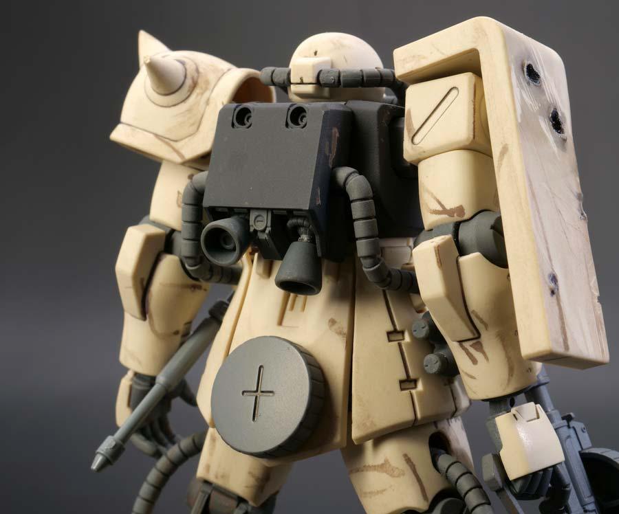HGUCザクIIF2型連邦軍仕様のガンプラレビュー画像です