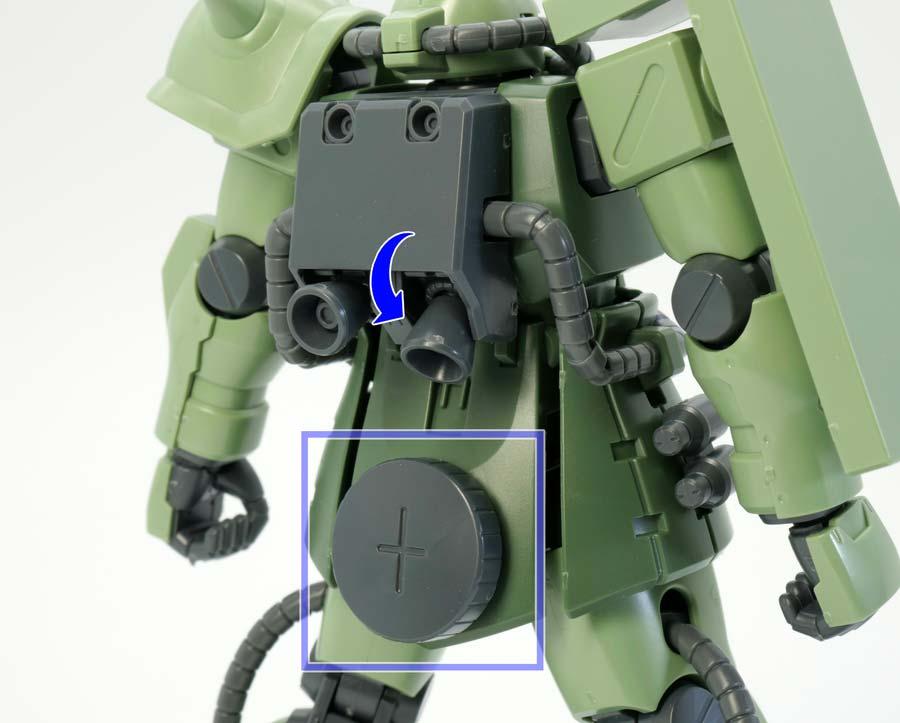 HGUCザクIIF2型のガンプラレビュー画像です