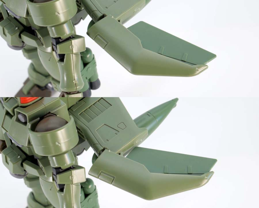 HGACリーオー(フルウェポンセット)の飛行ユニット仕様のガンプラレビュー画像です