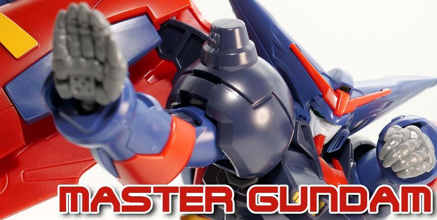 HGFCマスターガンダムのガンプラレビュー画像です