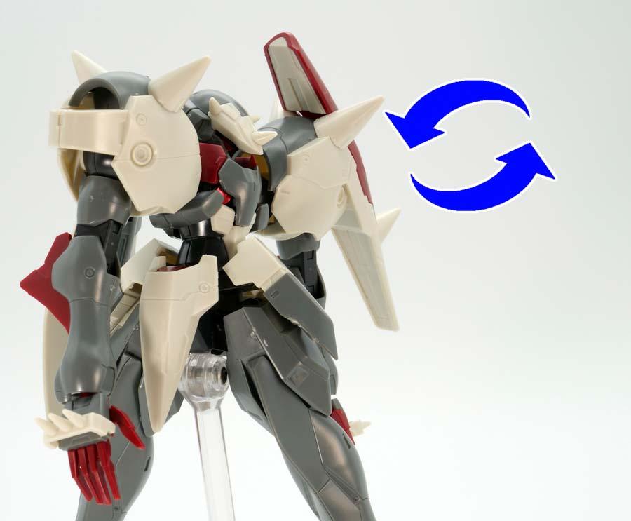 HGヒリング・ケア専用ガラッゾのガンプラレビュー画像です