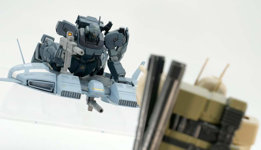 HGUCザクI・スナイパータイプ(ヨンム・カークス機)のガンプラレビュー画像です