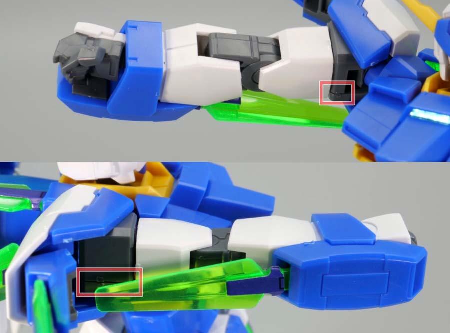 HGガンダムAGE-FXのガンプラレビュー画像です