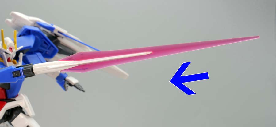 HGダブルオーライザー+GNソードIIIのガンプラレビュー画像です