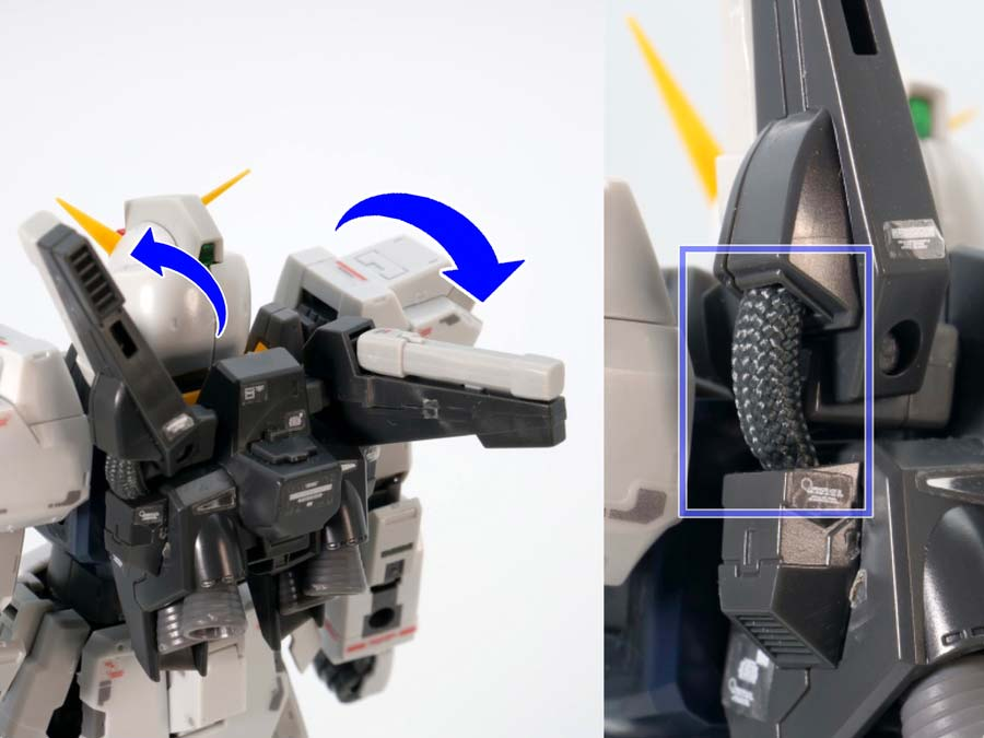 RGガンダムMk-II(エゥーゴ仕様)のガンプラレビュー画像です