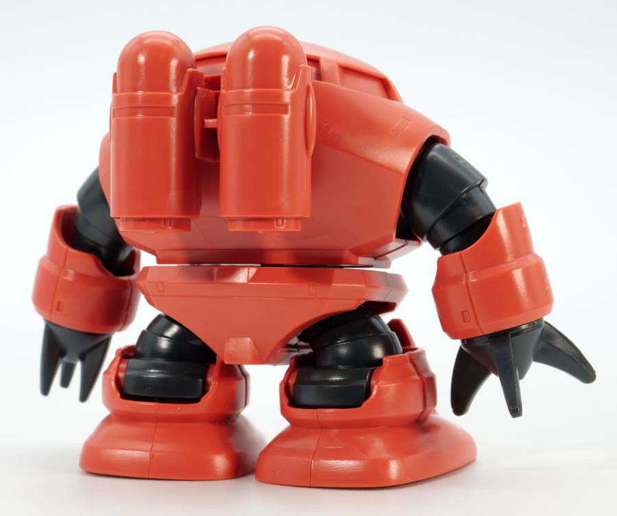BB戦士 シャア専用ズゴックのガンプラレビュー画像です