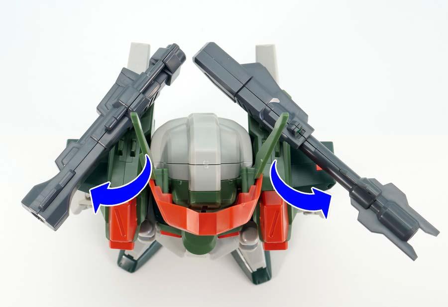 BB戦士ヴェルデバスターガンダムのガンプラレビュー画像です
