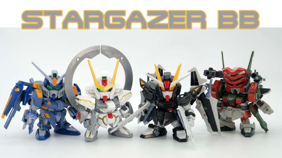 機動戦士ガンダムSEED STARGAZERのBB戦士のガンプラバリエーション画像です