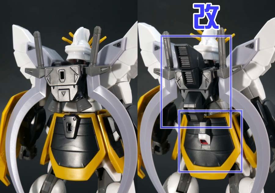 HGACガンダムサンドロックと改の違い・比較ガンプラレビュー画像です