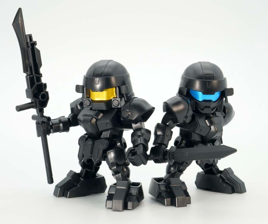 BUG&部隊兵セットのガンプラレビュー画像です