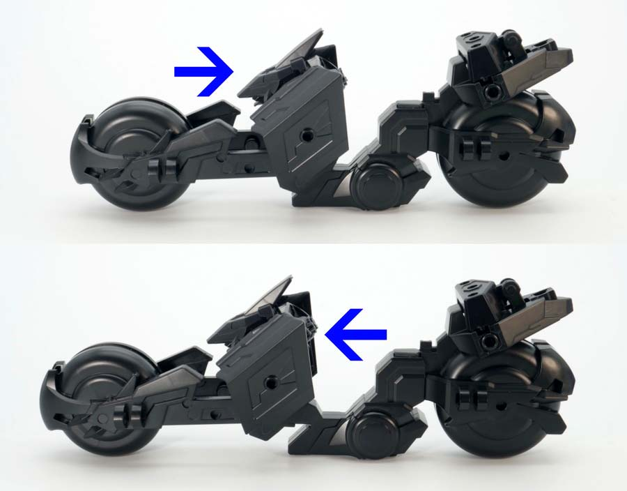トリニティバイクのガンプラレビュー画像です