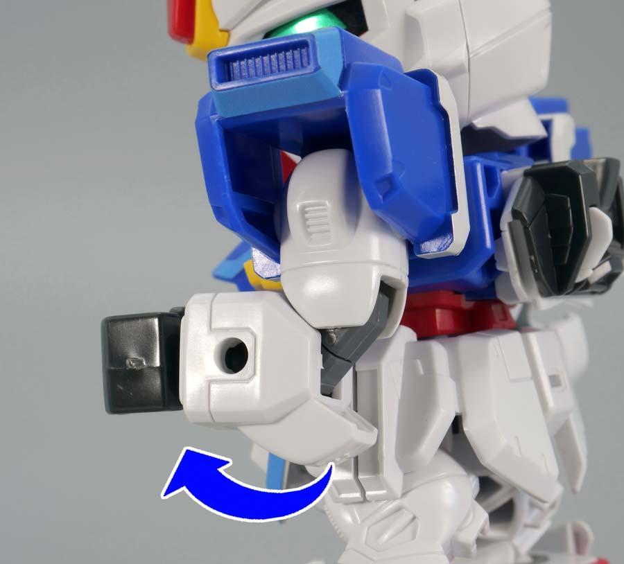BB戦士フォースインパルスガンダムのガンプラレビュー画像です