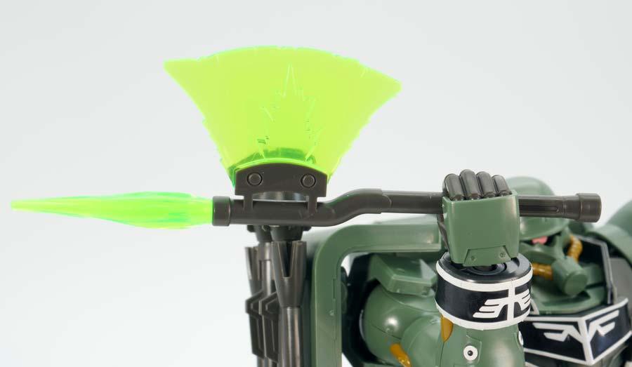 HGギラ・ズール(キュアロン機)のガンプラレビュー画像です