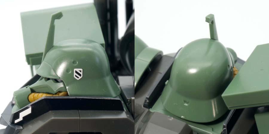 HGギラ・ズール(ギルボア・サント機)のガンプラレビュー画像です