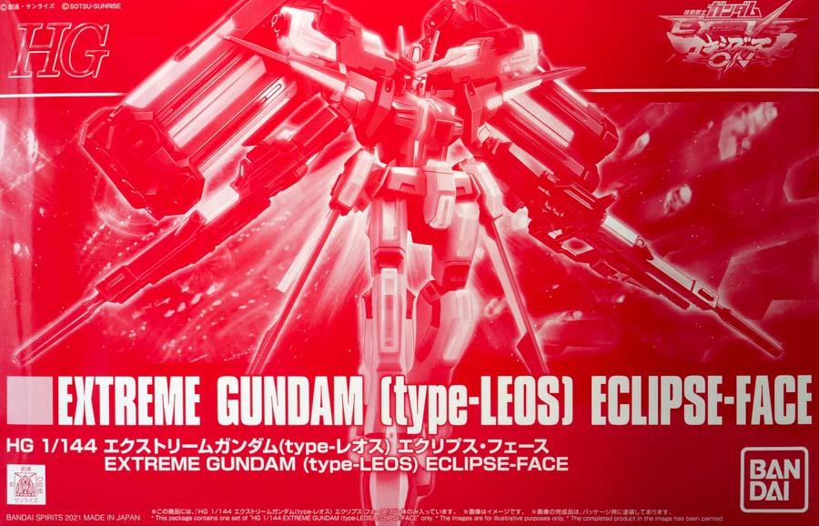 HGエクストリームガンダム(type-レオス)エクリプス・フェースのガンプラレビュー画像です