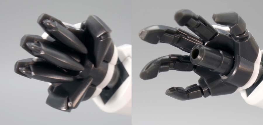 HGガンダムレギルスのガンプラレビュー画像です