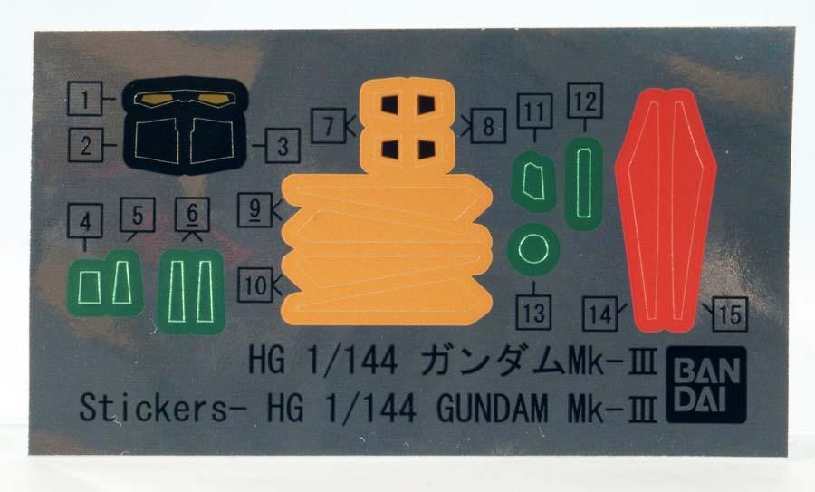 HGUCガンダムMk-IIIのガンプラレビュー画像です