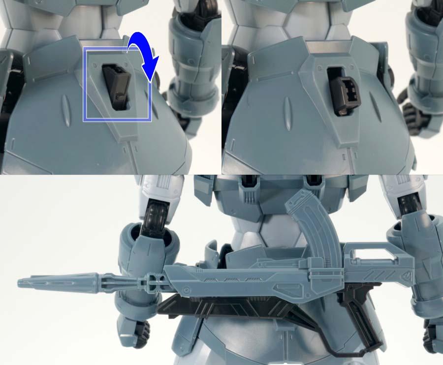 MGモビルジンのガンプラレビュー画像です