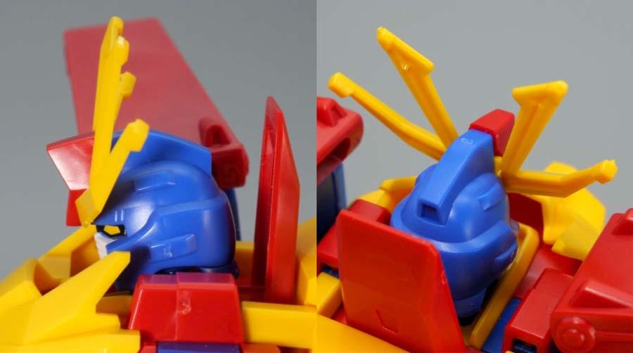 HGBFガンダムトライオン3のガンプラレビュー画像です